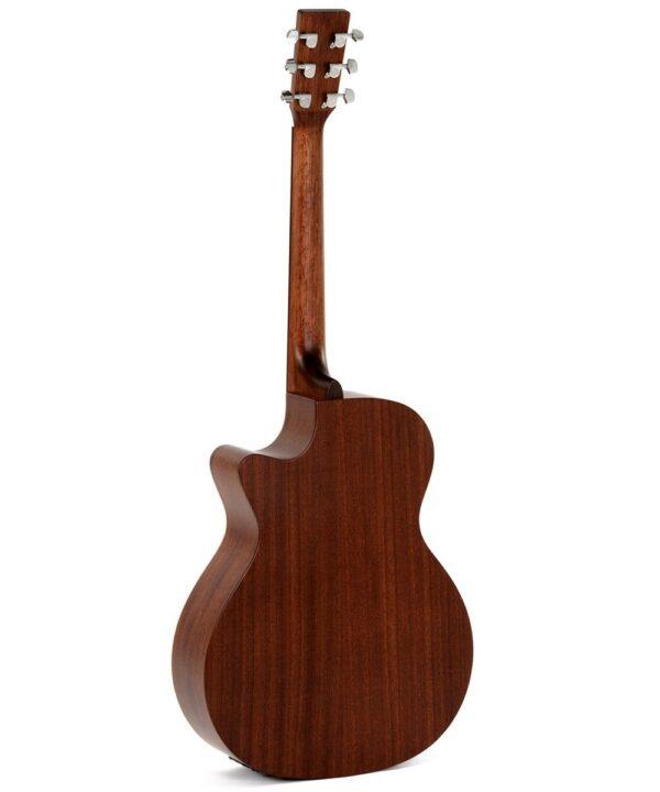 Guitarra electroacústica Sigma GMC-STE+ vista trasera