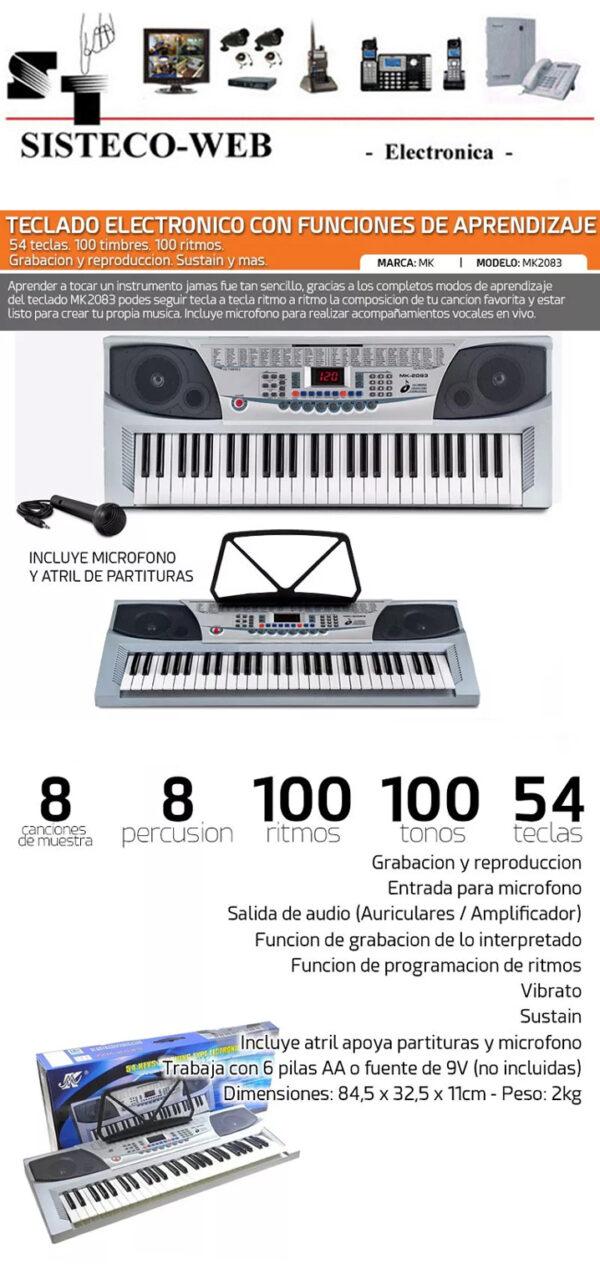 teclado electronico MK2083