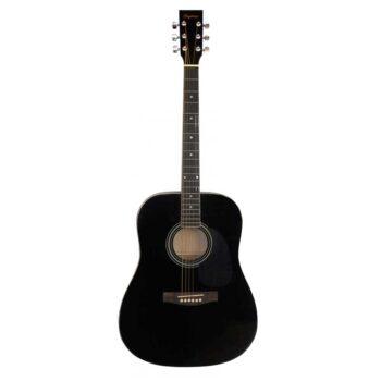 Guitarra Acústica Daytona Modelo A411 Negro Brillo