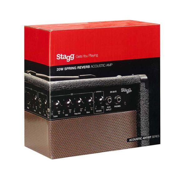 Amplificador de Guitarra Acústica Stagg Mod. 20AA R AU Reverb