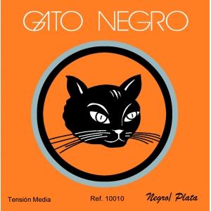 cuerdas de guitarra clásica gato negro